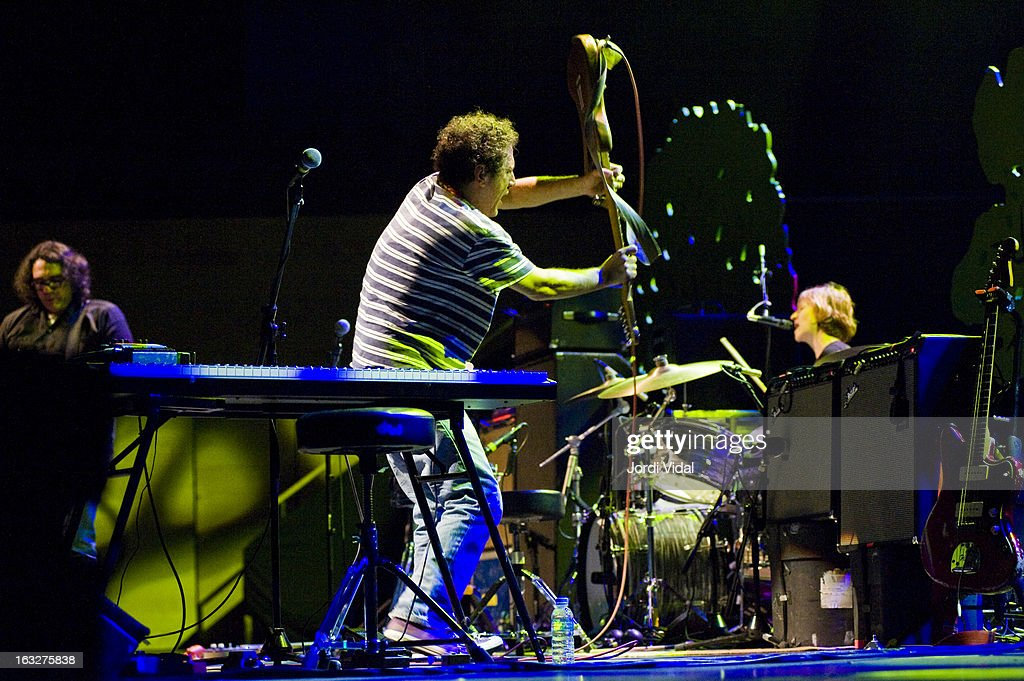 James McNew, Ira Kaplan and Georgia Hubley of Yo la Tengo perform on stage during Festival del Mil.lenni at L'Auditori on March 6, 2013 in Barcelona, Spain.