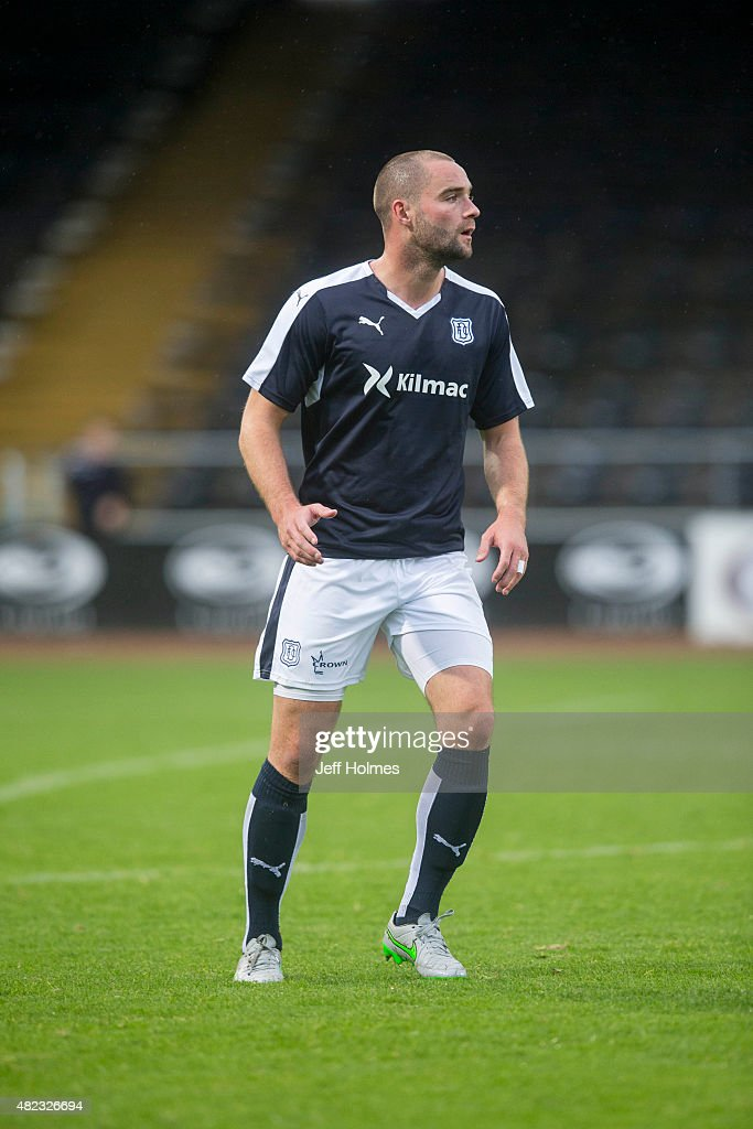 James McPake for Dundee at the Pre Season Friendly between Dundee and Everton at Dens Park on July 28th 2015 in Dundee Scotland