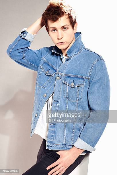 James McVey of the pop band The Vamps is photographed for Notion magazine on October 23 2015 in London England