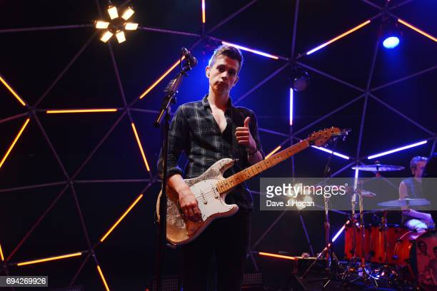 James McVey of The Vamps at MTV Live Stage at ExCel on June 9 2017 in London England MTV Live Stage is a new music series that puts the artist at the...