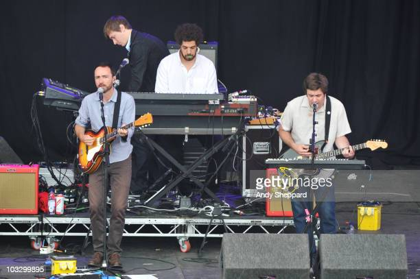 James Mercer and Brian Burtin aka Danger Mouse of Broken Bells perform on stage during the final day of The Big Chill Festival 2010 at Eastnor Castle...