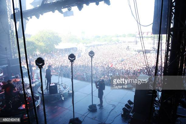 James Mercer and Danger Mouse of Broken Bells perform on day 2 of the 2014 Governors Ball Music Festival at Randall's Island on June 7 2014 in New...