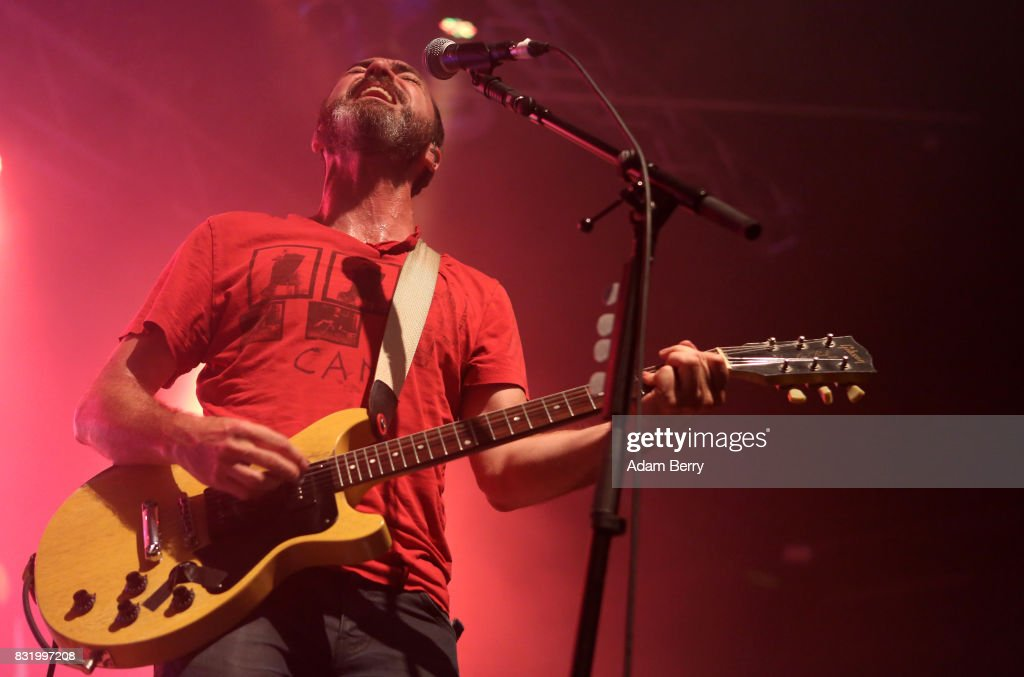 James Mercer of The Shins performs during a concert at Huxleys Neue Welt on August 15, 2017 in Berlin, Germany.