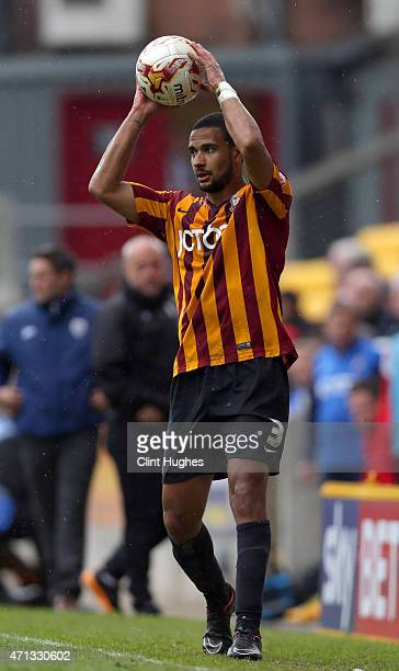 James Meredith of Bradford City during the Sky Bet League One match between Bradford City and Barnsley at Coral Windows Stadium on April 25 2015 in...