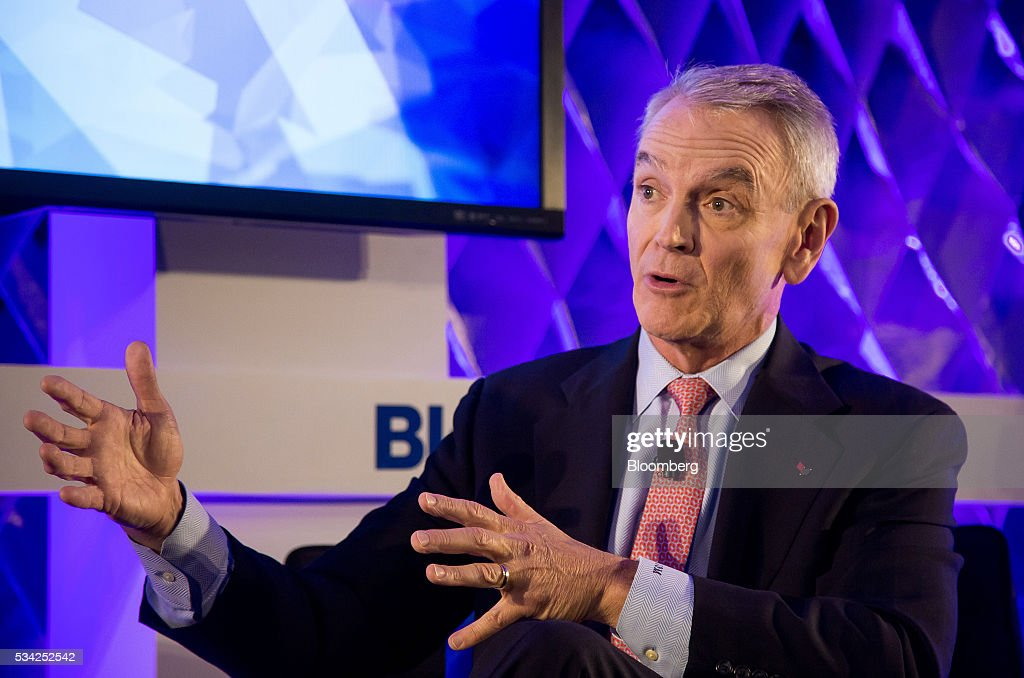 James Metcalf, chairman and chief executive officer of USG Corp., speaks during the Bloomberg Breakaway Summit in New York, U.S., on Wednesday, May 25, 2016. At the inaugural event, participants will hear from corporate leaders investors and government officials on the most crucial issues that impact their ability to find new markets, win over investors, recruit top talent, protect data, and more. Photographer: Michael Nagle/Bloomberg via Getty Images
