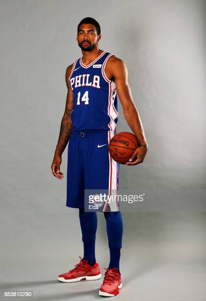 James Michael McAdoo of the Philadelphia 76ers poses for a portrait during the Philadelphia 76ers Media Day on September 25 2017 at the Philadelphia...