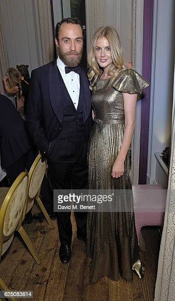 James Middleton and Donna Air attend The Animal Ball 2016 Presented by Elephant Family VIP dinner at The Langham Hotel on November 22 2016 in London...
