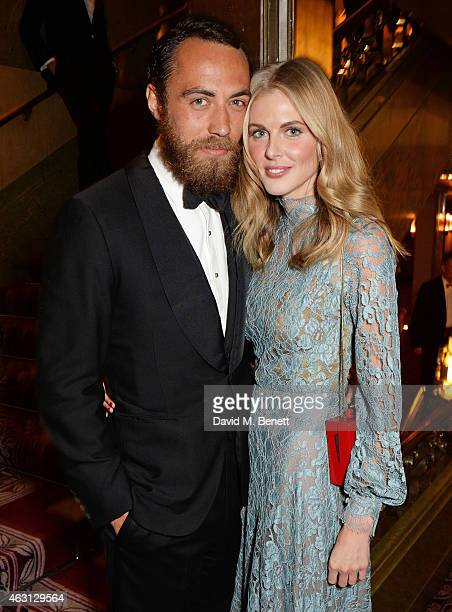 James Middleton and Donna Air attend the inaugural Roll Out The Red Ball in aid of the British Heart Foundation at The Park Lane Hotel on February 10...