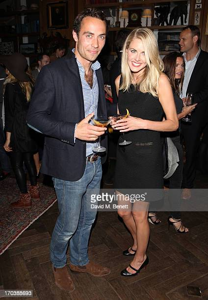 James Middleton and Donna Air attend the Johnnie Walker Blue Label Summer Party at Mr Fogg's of Mayfair on June 12 2013 in London England