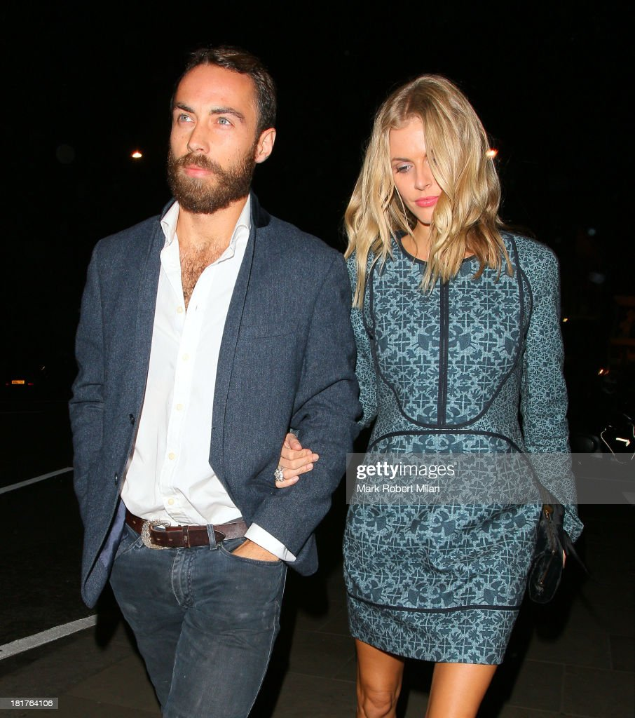 James Middleton and <a gi-track='captionPersonalityLinkClicked' href=/galleries/search?phrase=Donna+Air&family=editorial&specificpeople=209184 ng-click='$event.stopPropagation()'>Donna Air</a> attend the Ruski's Caviar and vodka Tavern grand launch on September 24, 2013 in London, England.