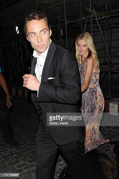 James Middleton and Donna Air leaving Loulou's Restaurant on June 7 2013 in London England