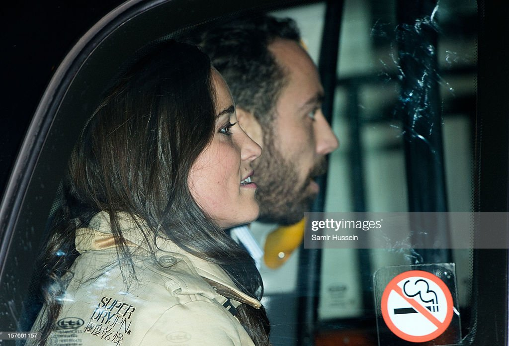James Middleton and Pippa Middleton leave the King Edward VII Hospital after visiting Catherine, Duchess of Cambridge who is being treated for acute morning sickness on December 05, 2012 in London, England.