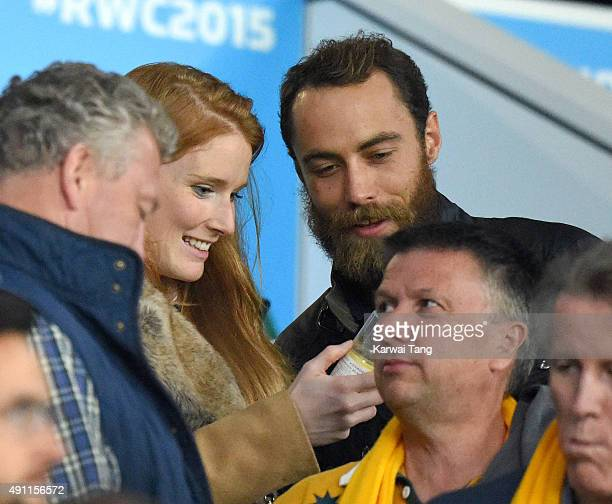 James Middleton attends the England v Australia match during the Rugby World Cup 2015 on October 3 2015 at Twickenham Stadium London United Kingdom