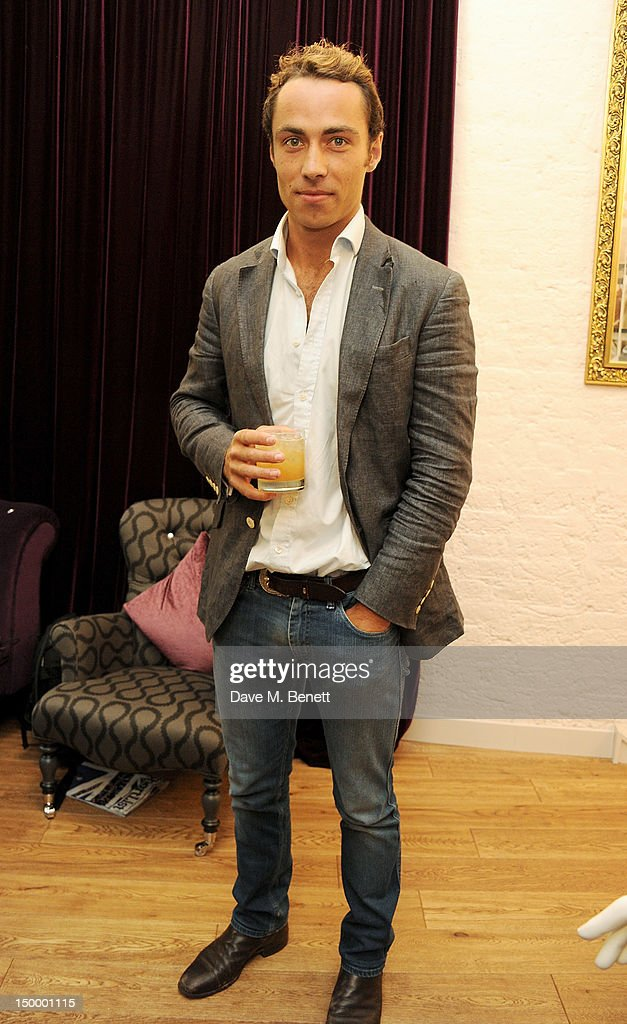 James Middleton attends the Mischa Barton Boutique flagship store launch party at Old Spitalfields Market on August 8, 2012 in London, England.