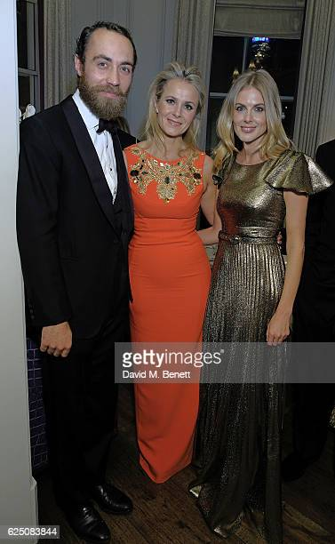 James Middleton Julietta Dexter and Donna Air attend The Animal Ball 2016 Presented by Elephant Family VIP dinner at The Langham Hotel on November 22...