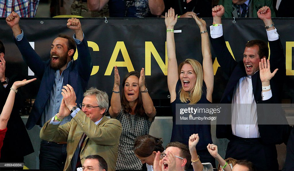 James Middleton Pippa Middleton Autumn Phillips and Peter Phillips cheer Team GB to victory in the Wheelchair Rugby gold medal match in the Copper...