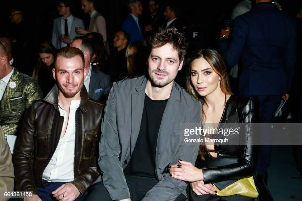 James Miller Cedric Edrich and Ana Maria Sandigan attended the Jeffrey Fashion Cares show at Intrepid SeaAirSpace Museum on April 3 2017 in New York...