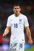 James Milner of England looks on during the International friendly match between England and Norway at Wembley Stadium on September 3 2014 in London...