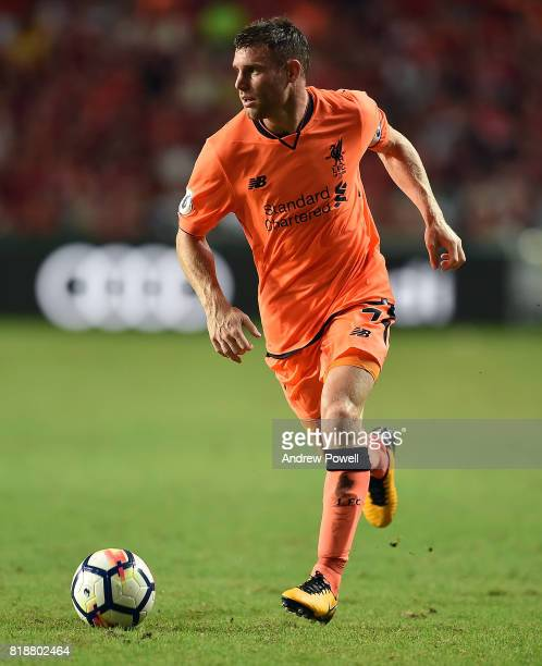 James Milner of Liverpool during the Premier League Asia Trophy match between Liverpool FC and Crystal Palace on July 19 2017 in Hong Kong Stadium...