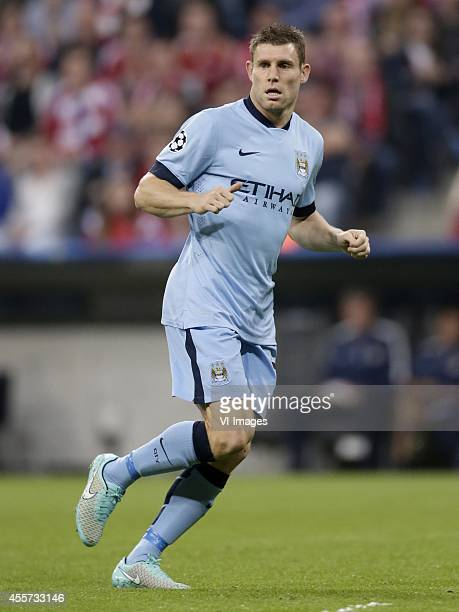 James Milner of Manchester City during the UEFA Champions League group E match between Bayern Munich and Manchester City on September 17 2014 at the...