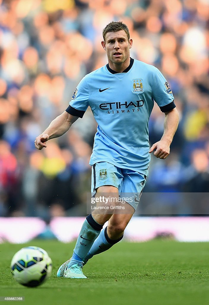 <a gi-track='captionPersonalityLinkClicked' href=/galleries/search?phrase=James+Milner&family=editorial&specificpeople=214576 ng-click='$event.stopPropagation()'>James Milner</a> of Manchester City in action during the Barclays Premier League match between Manchester City and Chelsea at Etihad Stadium on September 21, 2014 in Manchester, England.