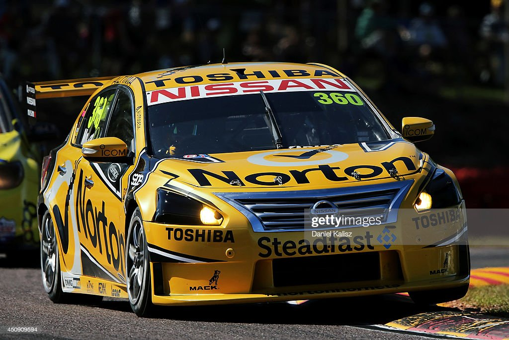 James Moffat drives the #360 Norton Hornets Nissan during practice for the Triple Crown Darwin, which is round six of the V8 Supercar Championship Series at Hidden Valley Raceway on June 20, 2014 in Darwin, Australia.