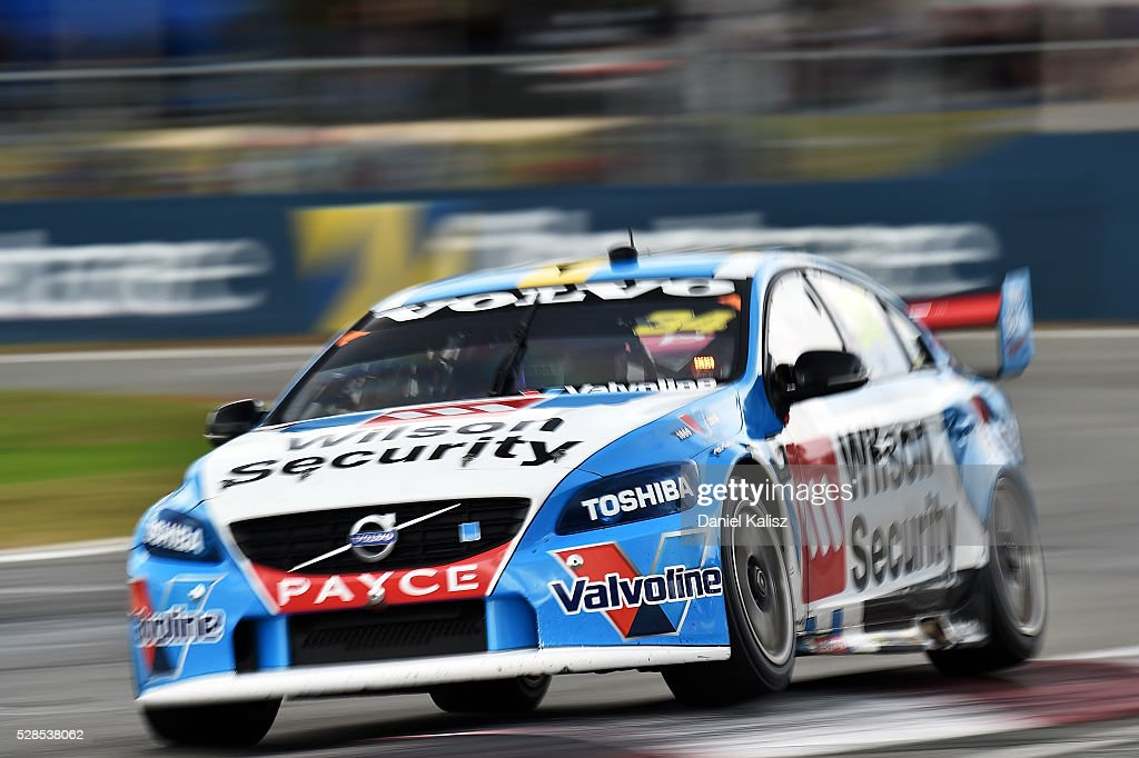 James Moffat drives the #34 Wilson Security Racing GRM Volvo S60 during practice for the V8 Supercars Perth SuperSprint at Barbagallo Raceway on May 6, 2016 in Perth, Australia.
