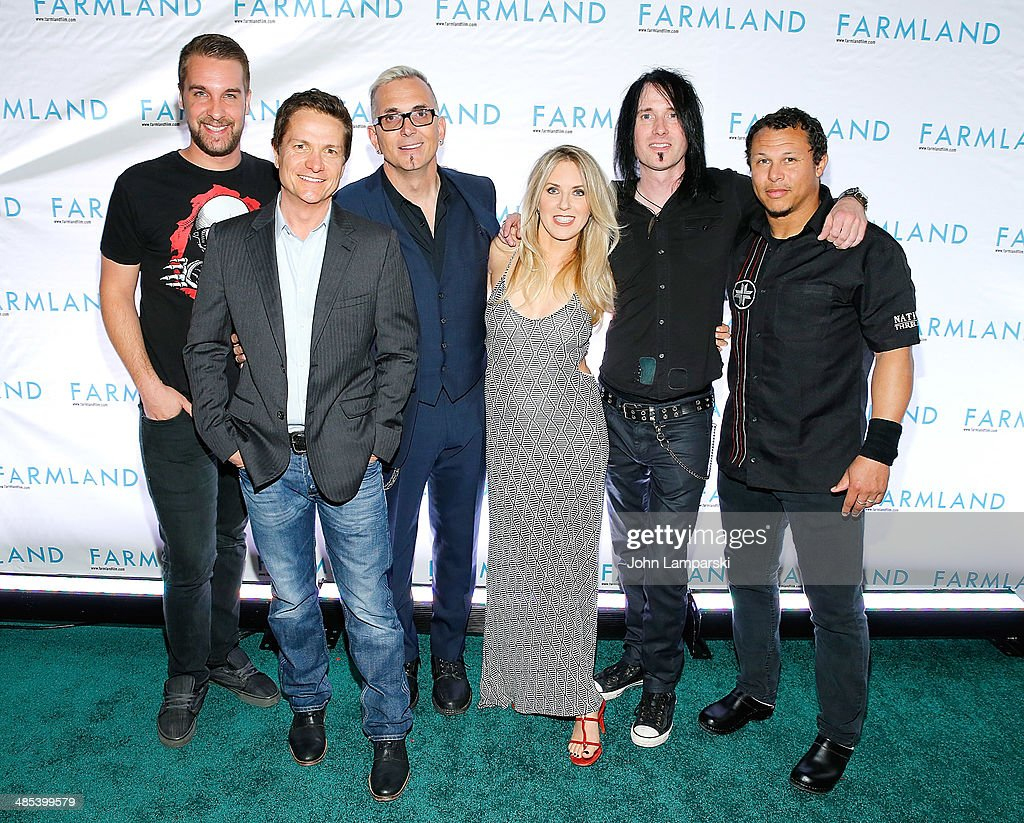 James Moll and Liz Phair and Sean Winchester Art Alexakis Davey French and Josh Crawley of Everclear attend of Everclear attend the 'Farmland'...