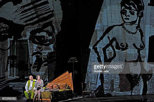 James Morris as Dr Schon and Brenda Rae as Lulu in English National Opera's production of Alban Berg's 'Lulu' directed and designed by William...