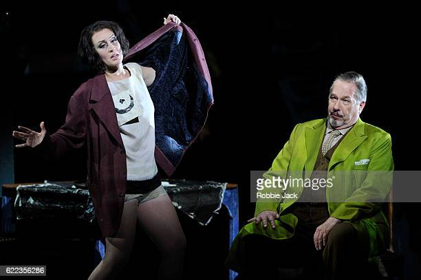 James Morris as Jack the Ripper and Brenda Rae as Lulu in English National Opera's production of Alban Berg's 'Lulu' directed and designed by William...