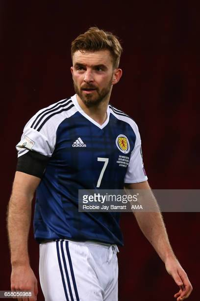 James Morrison of Scotland during the FIFA 2018 World Cup Qualifier between Scotland and Slovenia at Hampden Park on March 26 2017 in Glasgow Scotland