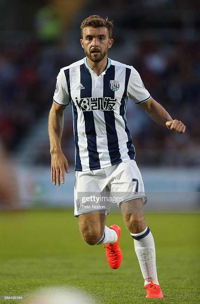 James Morrison of West Bromwich Albion in action during the EFL Cup second round match between Northampton Town and West Bromwich Albion at Sixfields...