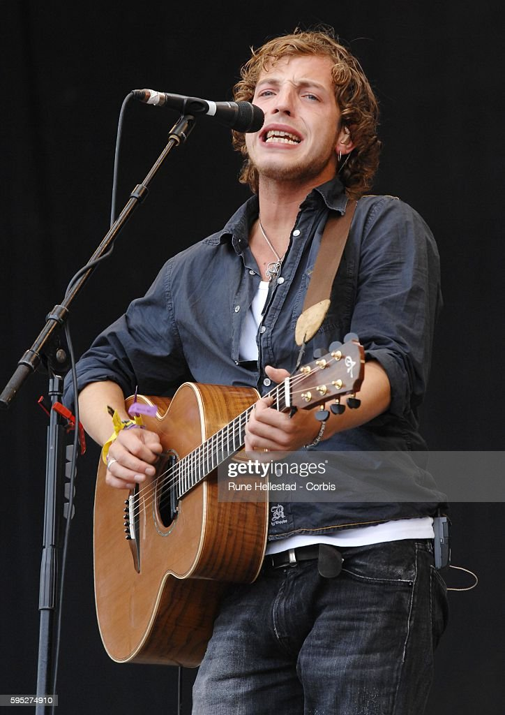James Morrison performs at the 2007 Glastonbury Festival