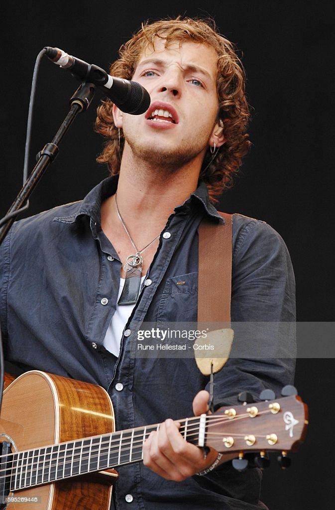 James Morrison performs during the Glastonbury music festival in Somerset