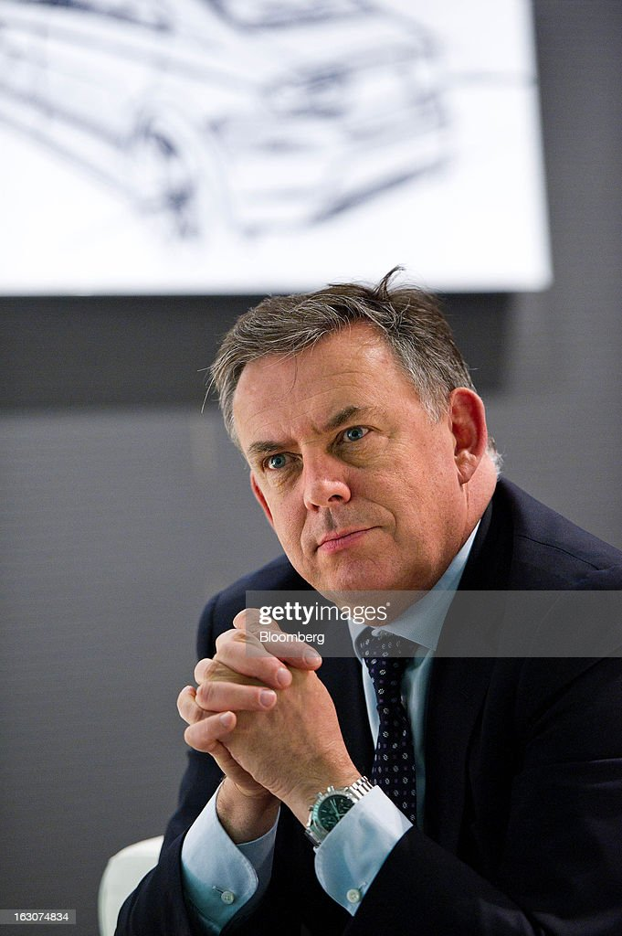 James Muir, head of Seat SA, pauses during a Bloomberg interview at the Seat SA headquarters in Martorell, Spain, on Thursday Feb. 28, 2013. Seat will invest 300 million euros a year in the next five years and renew its range of models, Efe said, citing an interview with Muir. Photographer: David Ramos/Bloomberg via Getty Images