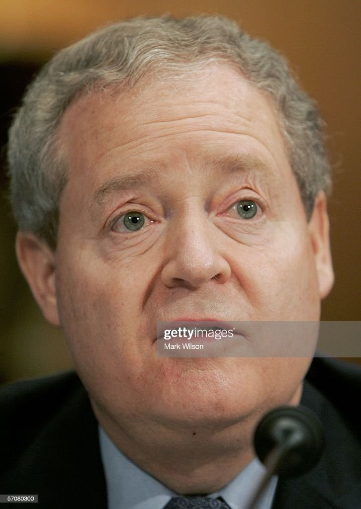 James Mulva, Chairman and Chief Executive Officer of Conoco Phillips, testifies during a Senate Judiciary Committee hearing on Capitol Hill March 14, 2006 in Washington DC. The committee is listening to testimony on consolidation in the oil and gas Industry and rising fuel prices.