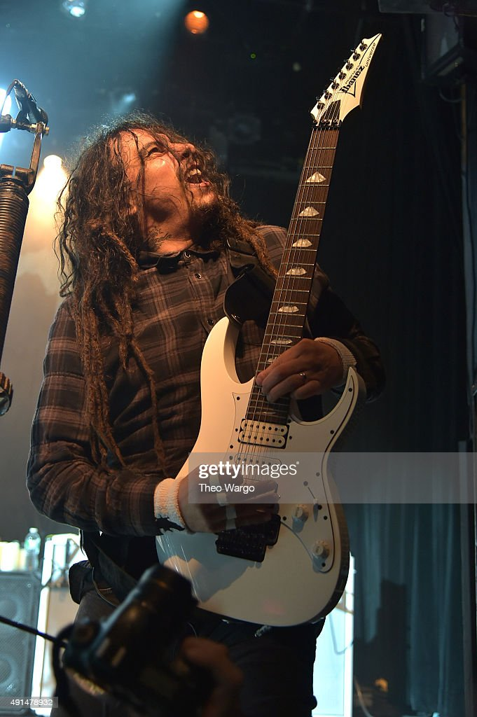 James 'Munky' Schaffer performs during The Korn 20th Anniversary Tour at Irving Plaza on October 5, 2015 in New York City.