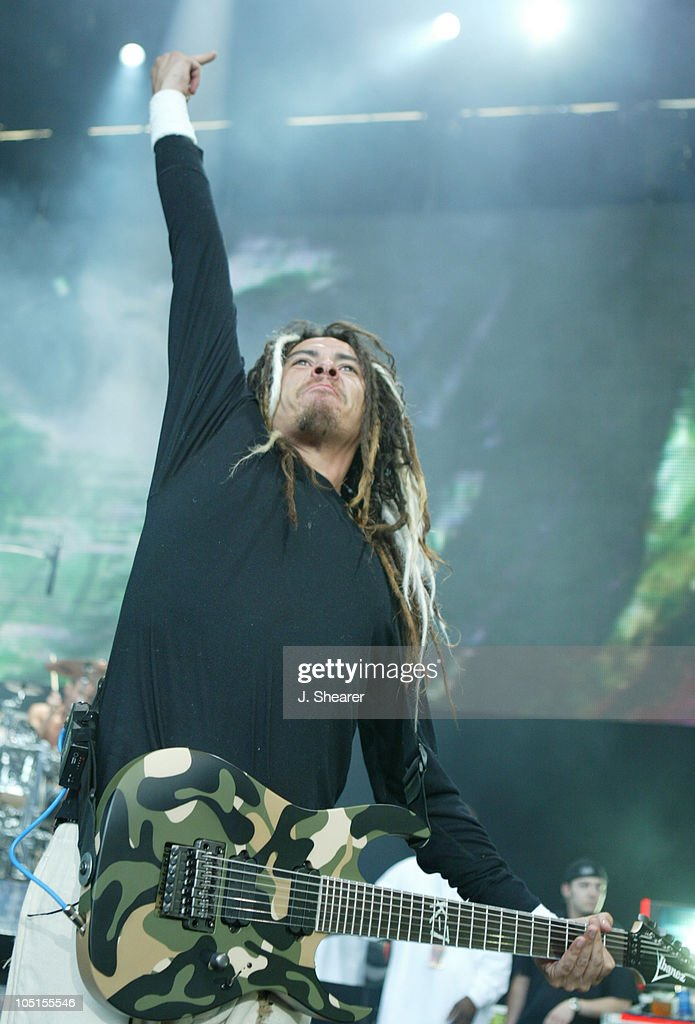 James 'Munky' Shaffer of Korn during Ozzfest Tour 2003 - San Francisco at Shoreline Amphitheatre in Mountain View, California, United States.