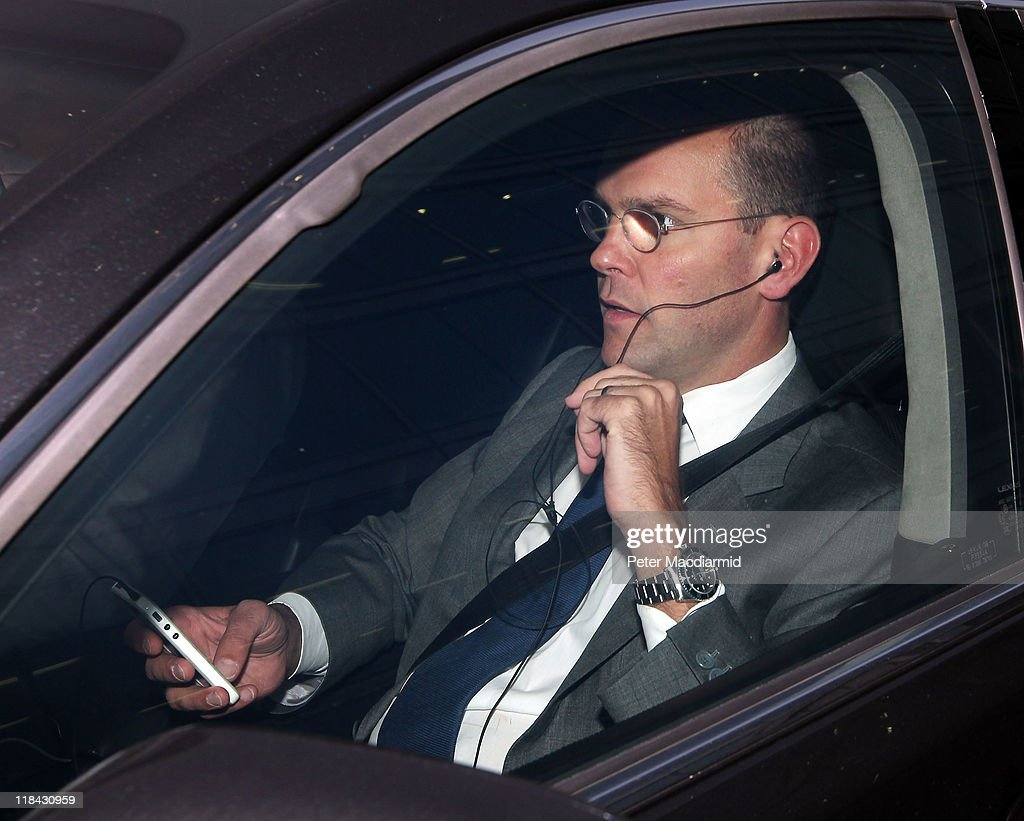 James Murdoch, Chairman and Chief Executive of News Corp. leaves News International headquarters after it was announced that the News of the World newspaper was to close on July 7, 2011 in London, England. Following further serious allegations that phone hacking was widespread at the News of the World newspaper, Chief Executive James Murdoch has announced the newspaper will close.
