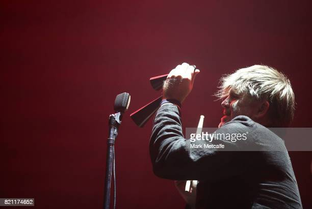 James Murphy of LCD Soundsystem performs during Splendour in the Grass 2017 on July 23 2017 in Byron Bay Australia