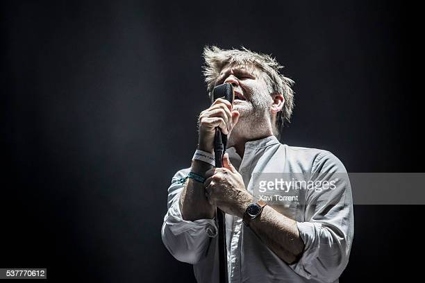 James Murphy of LCD Soundsystem performs in concert during the second day of Primavera Sound 2016 on June 2 2016 in Barcelona Spain
