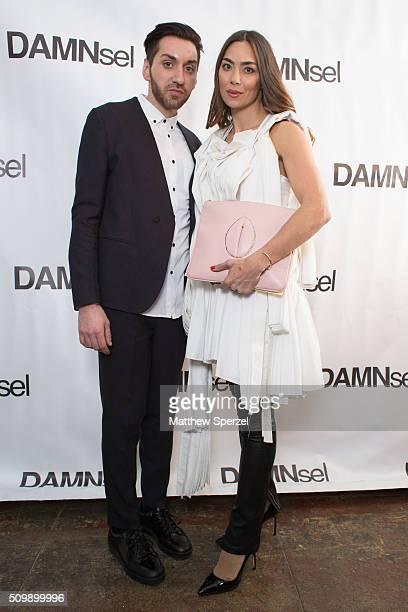 James Murray Anna Maria Sandgren wearing Damsel attend the Damnsel 'Garmeoplasty' presentation during Fall 2016 New York Fashion Week on February 12...