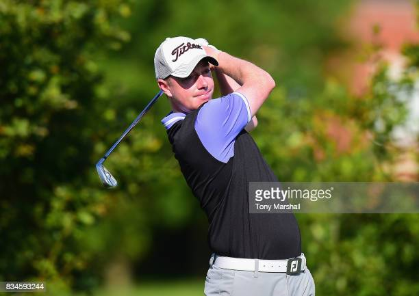 James Mynott of St Ives Golf Club plays his first shot on the 1st tee during the Golfbreakscom PGA Fourball Championship Day 3 at Whittlebury Park...