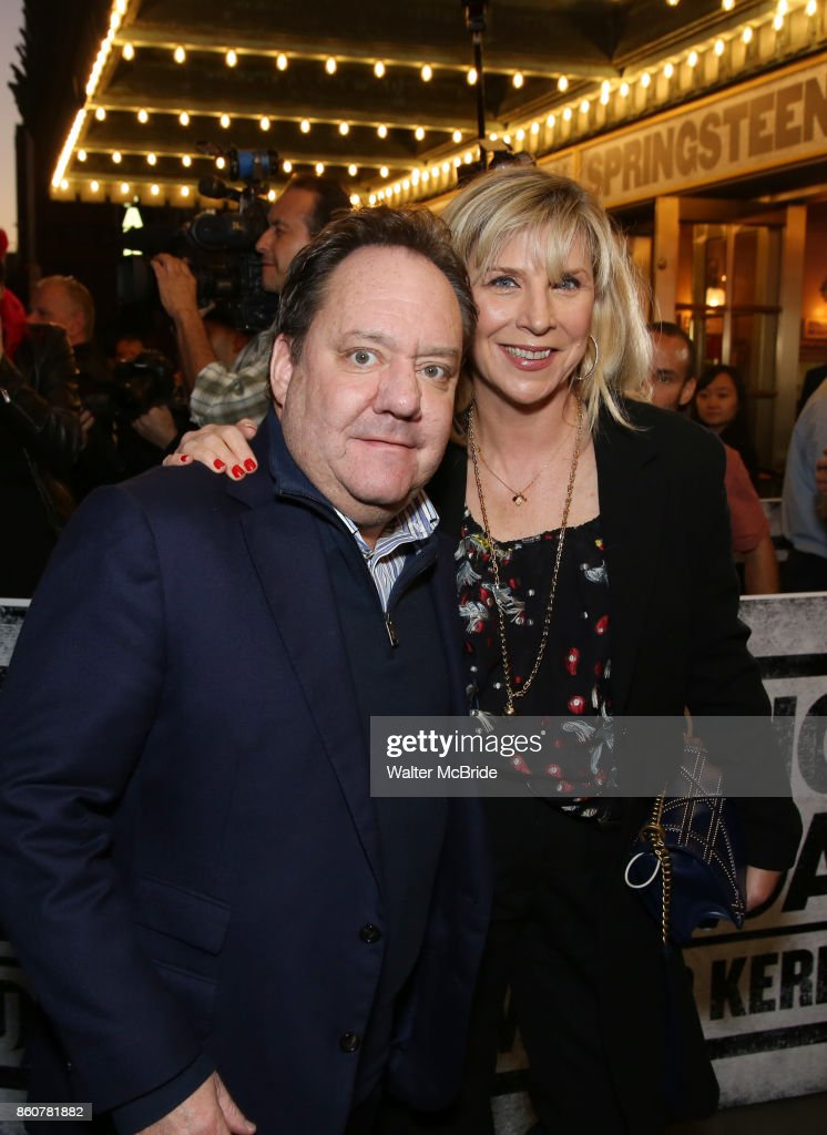 James Nederlander and Margo McNabb Nederlander attending the opening night performance for 'Springsteen on Broadway' at The Walter Kerr Theatre on October 12, 2017 in New York City.