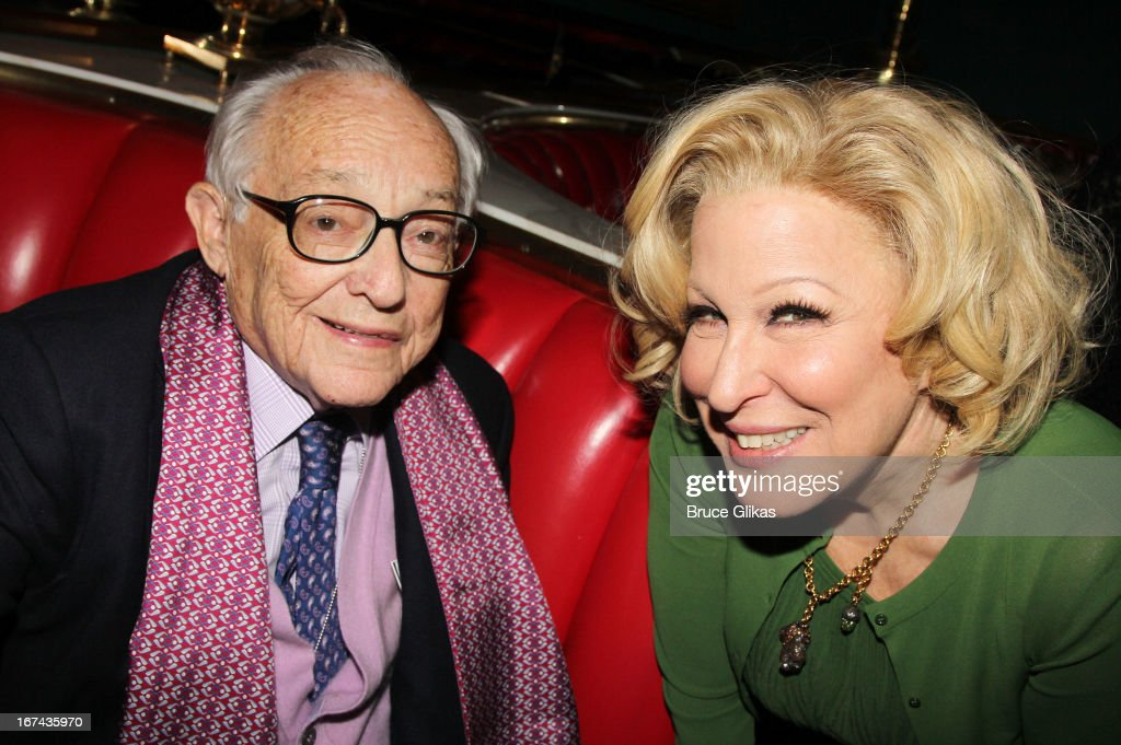 James Nederlander Sr and Bette Midler attend the 'I'll Eat You Last: A Chat With Sue Mengers' Broadway opening night after-party at The Russian Tea Room on April 24, 2013 in New York City.