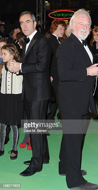 James Nesbitt and Bernard Hill attends the Royal Film Performance of 'The Hobbit An Unexpected Journey' at Odeon Leicester Square on December 12 2012...
