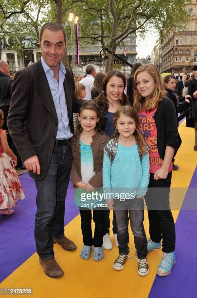 James Nesbitt and children arrive for the UK Film Premiere of 'Hannah Montana The Movie' at the Odeon Leicester Square on April 23 2009 in London...