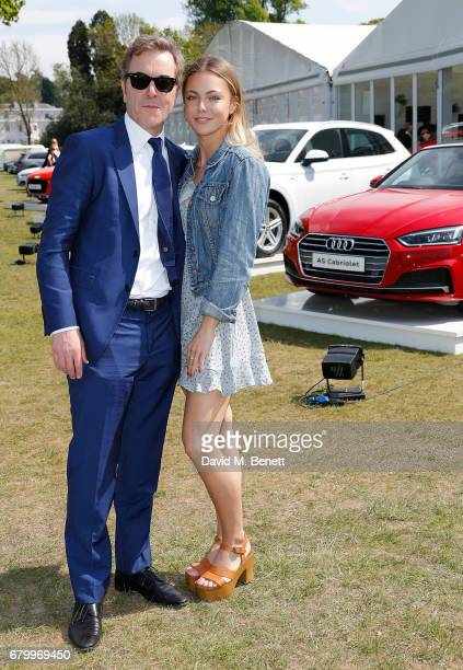 James Nesbitt and Peggy Nesbitt attend the Audi Polo Challenge at Coworth Park on May 7 2017 in Ascot United Kingdom