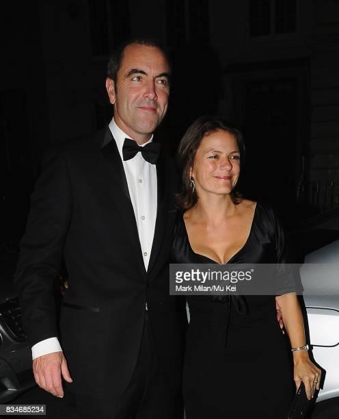 James Nesbitt and Sonia ForbesAdam arrive at Claridges Hotel on September 08 2008 in London England