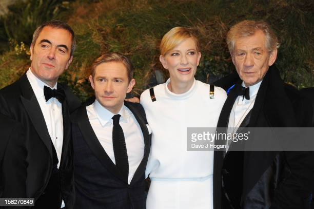 James Nesbitt Martin Freeman Cate Blanchett and Sir Ian Mckellen attend a royal film performance of 'The Hobbit An Unexpected Journey' at The Empire...